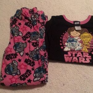 Star Wars pajamas pjs medium girls medium size